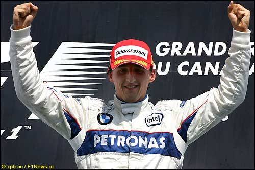 Роберт Кубица на подиуме Гран При Канады, 2008 год