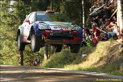 Роберт Кубица на трассе Neste Rally Finland