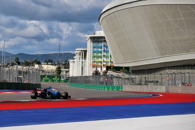 Джордж Расселл на трассе Гран При России, 2019 год