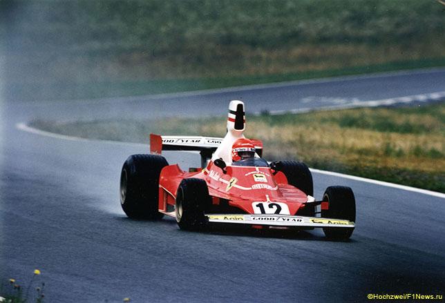 Ники Лауда за рулём Ferrari 312T, 1975 год