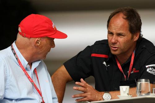 Ники Лауда (слева) и Герхард Бергер (Toro Rosso)