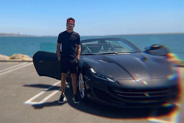 Шарль Леклер и Ferrari Portofino, фото из Instagram гонщика