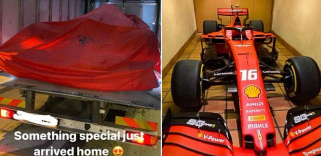 Ferrari SF90, доставленная Шарлю Леклеру