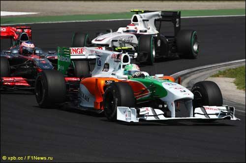Витантонио Лиуцци на трассе Гран При Венгрии