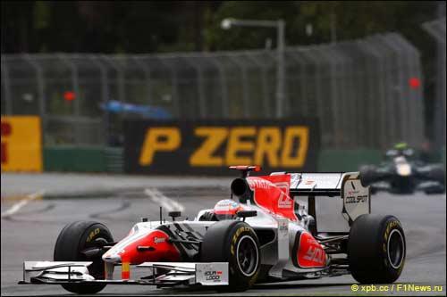 Нараин Картикеян на трассе Гран При Австралии