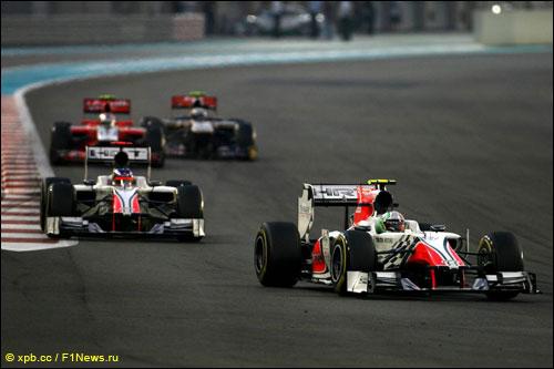 Пилоты HRT на трассе Гран При Абу-Даби