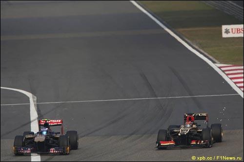 Даниэль Риккардо и Кими Райкконен на Гран При Китая