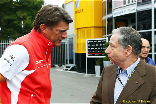 Грэм Лоудон и президент FIA Жан Тодт