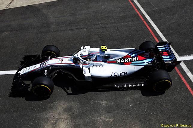Сергей Сироткин за рулём Williams FW41
