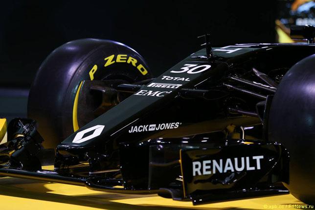 Логотип Jack & Jones на носовом обтекателе Renault