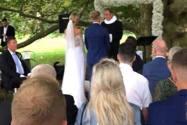Свадьба Кевина Магнуссена (фото из Instagram Кристины Кронваль)