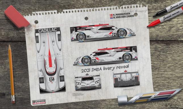 Спортпрототип Cadillac DPi-V.R, на котором в 2021 году будет выступать Кевин Магнуссен