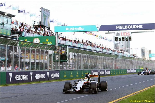 Серхио Перес на прошлогоднем Гран При Австралии