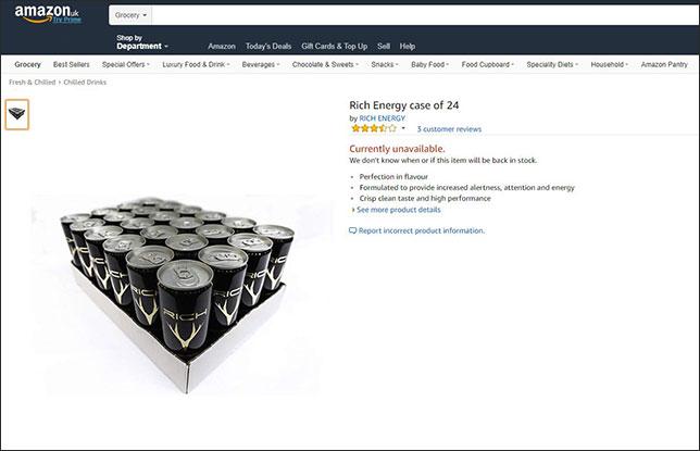 Скриншот страницы интернет-магазина Amazon