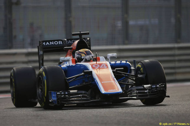 Паскаль Верляйн за рулем Manor на этапе в Абу-Даби
