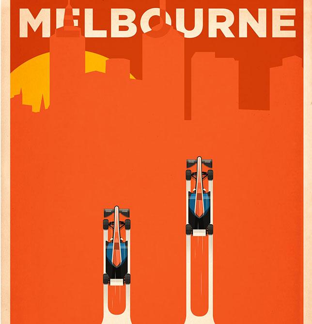 Плакат, подготовленный Manor к прошлогоднему Гран При Австралии