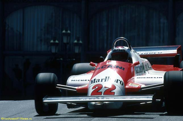 Марио Андретти за рулём Alfa Romeo 179C, Гран При Монако 1981 года