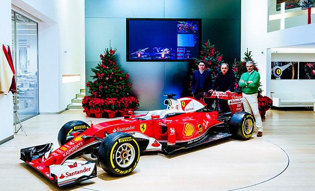 Слева направо: технический директор Ferrari Маттиа Бинотто, Серджио Маркионне и Маурицио Арривабене, руководитель команды