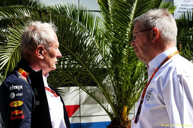 Хельмут Марко и Росс Браун, спортивный директор Формулы 1