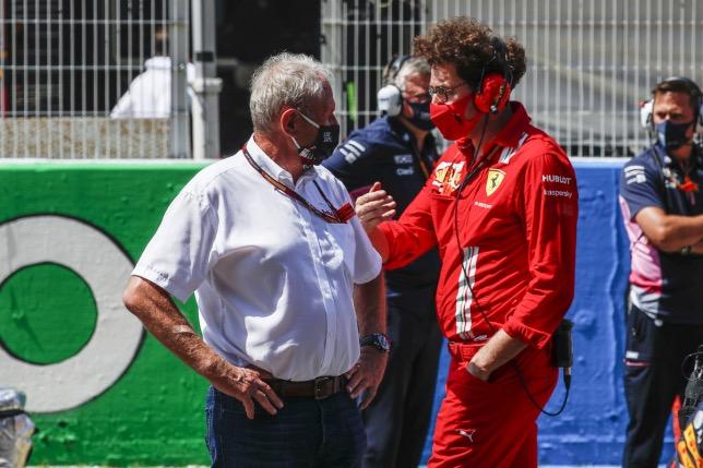 Хельмут Марко и Маттиа Бинотто, руководитель команды Ferrari, фото HochZwei