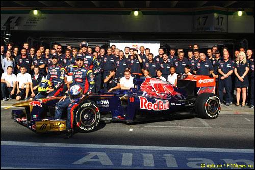 Групповая фотография Toro Rosso в Интерлагосе