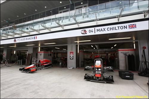Боксы Marussia F1 на Гран При России