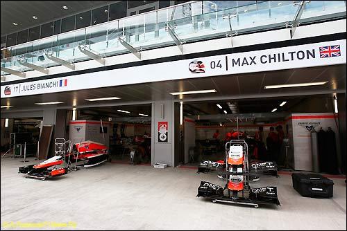 Боксы Marussia на Сочи Автодроме