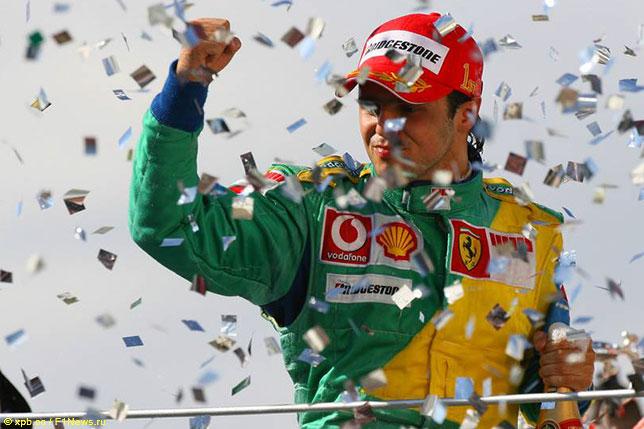 Фелипе Масса на подиуме Гран При Бразилии 2006 года