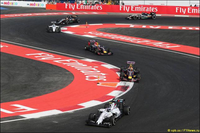 Валттери Боттас на прошлогоднем Гран При Мексики