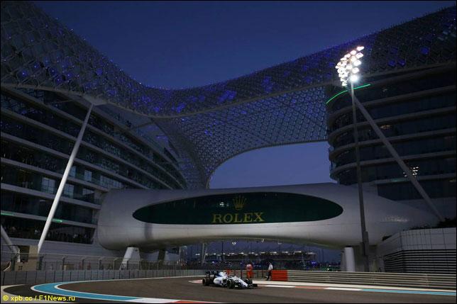 Валттери Боттас на прошлогоднем Гран При Абу-Даби