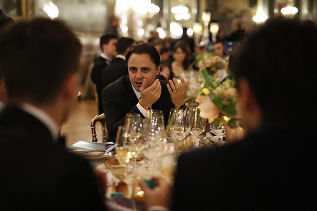 Фелипе Масса на торжественном ужине перед гала-церемонией FIA в Версале
