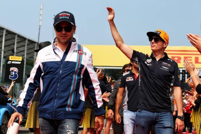 Фелипе Масса и Макс Ферстаппен на Гран При Бельгии 2018 года, фото XPB