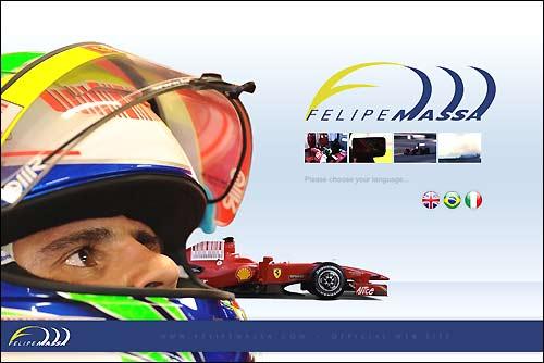 Скриншот сайта Фелипе Массы