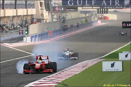 Фелипе Масса во время Гран При Бахрейна