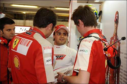 Фелипе Масса с коллегами по команде, Гран При Венгрии