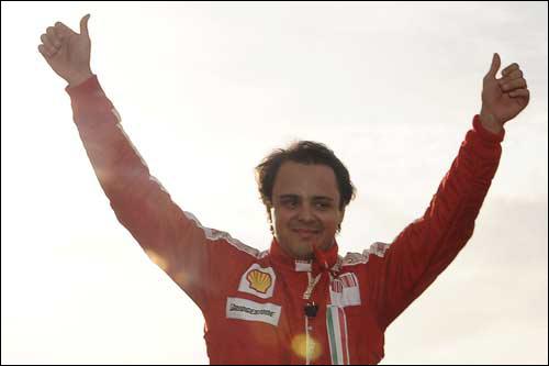 Фелипе Масса на празднике Ferrari в Валенсии