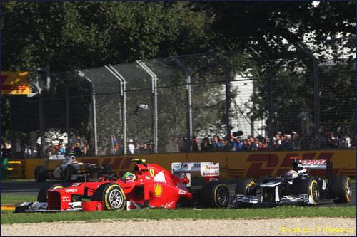 Фелипе Масса на трассе Гран При Австралии