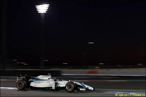 Валттери Боттас на квалификации в Абу-Даби