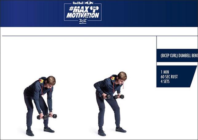 Скриншот одной из страниц сайта redbull.com/nl-nl/max-motivation