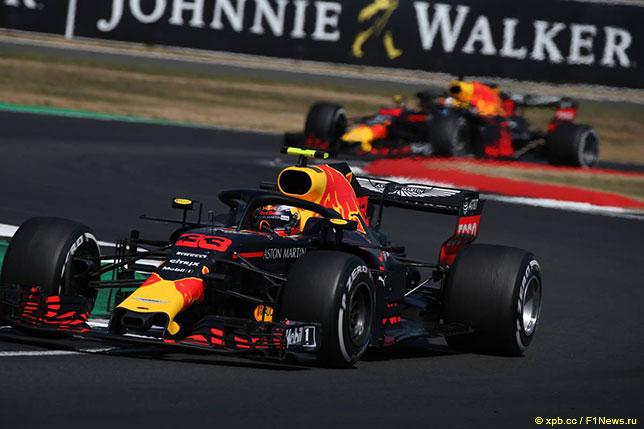 Макс Ферстаппен на трассе Гран При Великобритании, 2018 год