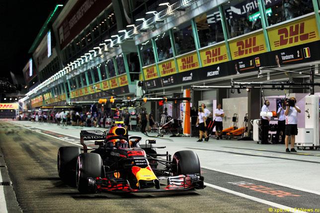 Макс Ферстаппен на Гран При Сингапура, 2018 год