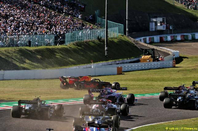 Гран При Японии. Инцидент  с Максом Ферстаппеном