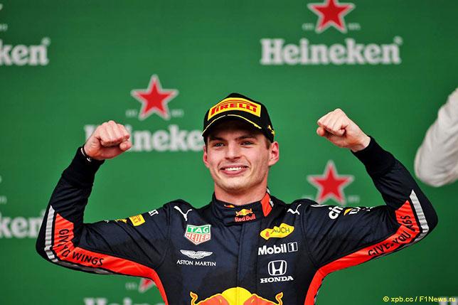 Макс Ферстаппен - победитель Гран При Бразилии