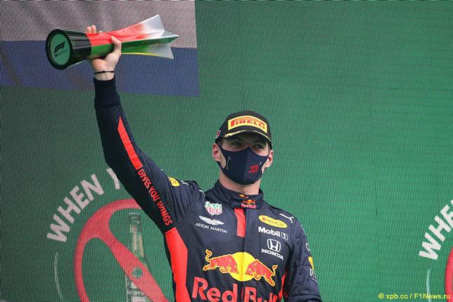 Макс Ферстаппен на подиуме Гран При Португалии