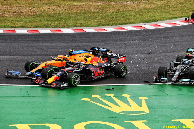 Гран При Венгрии. Инцидент на первом круге