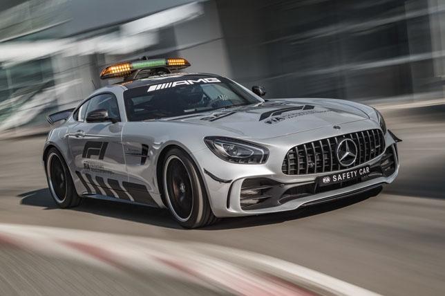 Автомобиль безопасности Mercedes AMG GT R