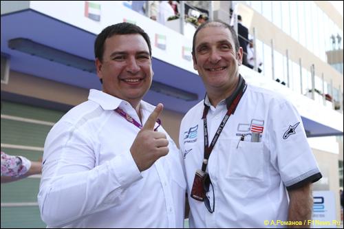 Игорь Мазепа (слева) и Бруно Мишель, руководитель серии GP2