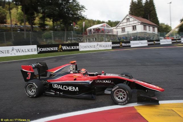GP3: Никита Мазепин выиграл воскресную гонку в Спа