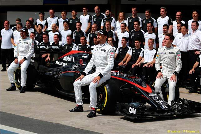 Групповая фотография McLaren Honda
