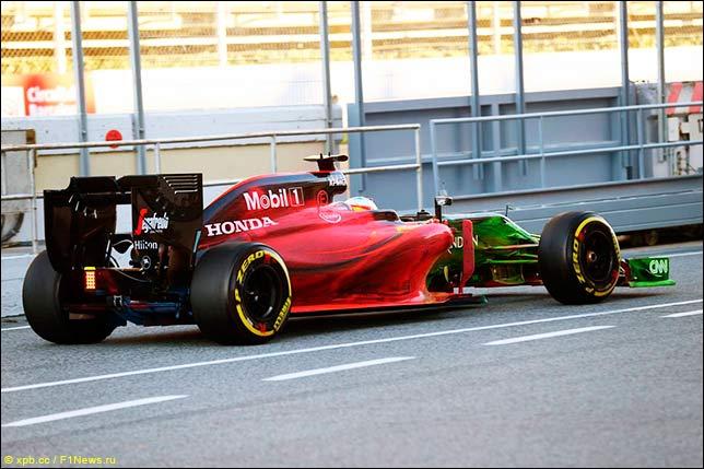 Аэродинамическая краска на McLaren MP4-31